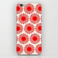vintage flowers red iPhone & iPod Skin