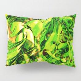 Fluid Painting 3 (Green Version) Pillow Sham