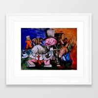 political Framed Art Prints featuring Political Circus by eVol i