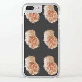 Soft Cat Paw Clear iPhone Case