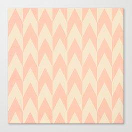 Vintage Pink Uneven Chevron Pattern Canvas Print