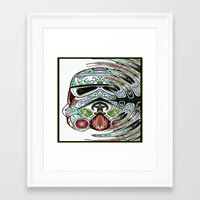 psychadelic Framed Art Prints featuring Psychadelic Storm Trooper by Just Bailey Designs .com