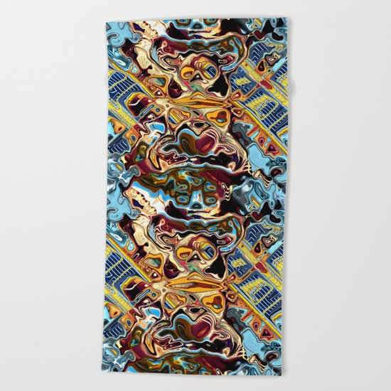 Chaotic Abstract Conglomeration Beach Towel