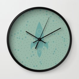 Vintage Fly Me to the Stars Wall Clock