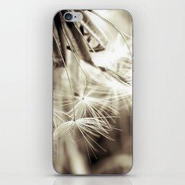 Dandelion seeds iPhone Skin