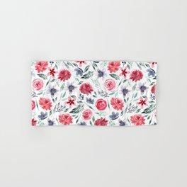 Moody Large Florals | Watercolor Hand & Bath Towel