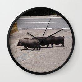 Three Little Piggies Wall Clock