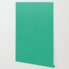 Garland with dots pattern Mint Wallpaper