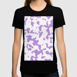 Large Spots - White and Light Violet T-shirt