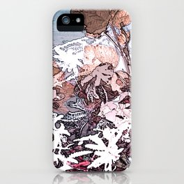 Frosty Transformation to Winter - An abstracted impression iPhone Case
