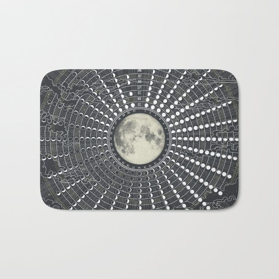 Phases // Moon Calendar 2017 Bath Mat