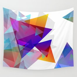 Kaleidoscopic Fragments Wall Tapestry