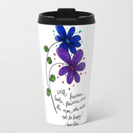Flower happiness Travel Mug