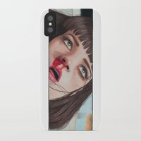 mia wallace iPhone & iPod Cases featuring Mia Wallace by Tariana B.
