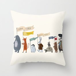 adventure and explore Throw Pillow