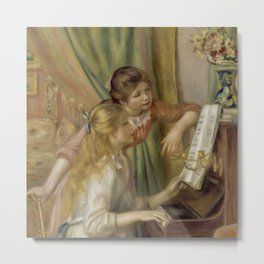 "Auguste Renoir ""Young Girls at the Piano"" Metal Print"