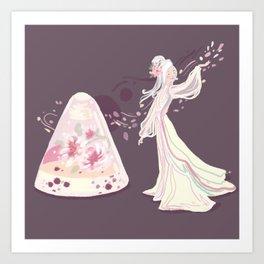 Sakura Jelly Art Print