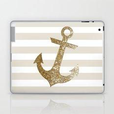 GLITTER ANCHOR IN GOLD Laptop & iPad Skin