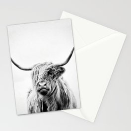 portrait of a highland cow - vertical orientation Stationery Cards