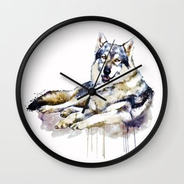 Smiling Wolf Wall Clock