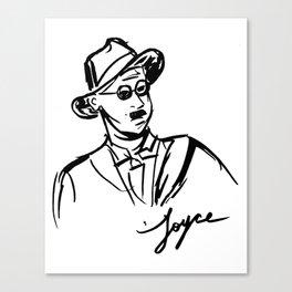 James Joyce Portrait Mug Canvas Print