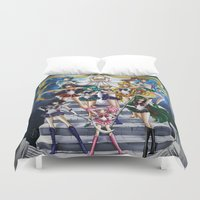 sailor moon Duvet Covers featuring SAILOR MOON  by CARLOSGZZ