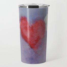 flying heart encaustic Travel Mug