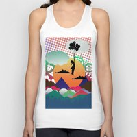collage Tank Tops featuring collage by mark ashkenazi