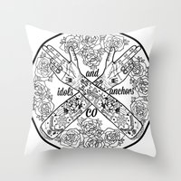 logo Throw Pillows featuring Logo by Dan PeaseIllustration