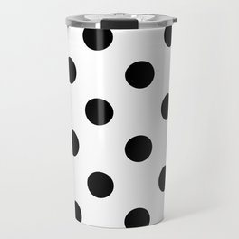 Polkadot (Black & White Pattern) Travel Mug