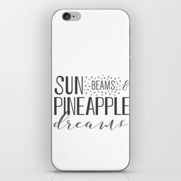 Sun Beams & Pineapple Dreams iPhone Skin