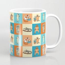 Colourful lemur pattern Coffee Mug