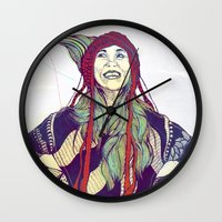 anna Wall Clocks featuring AnnA by Andon Georgiev