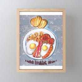 English Breakfast Framed Mini Art Print