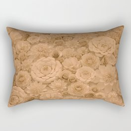 Wall of Flowers Rectangular Pillow