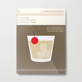 White Russian Cocktail Art Print Metal Print
