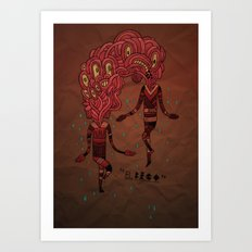 The Kiss Art Print