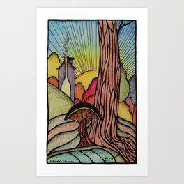 El Beasto's Chimney Art Print