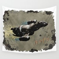 firefly Wall Tapestries featuring Firefly by Ralf Crawford