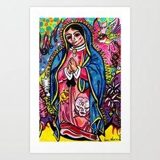 Virgin De Guadalupe Art Print
