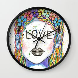 "Words Within: ""Love"" Wall Clock"