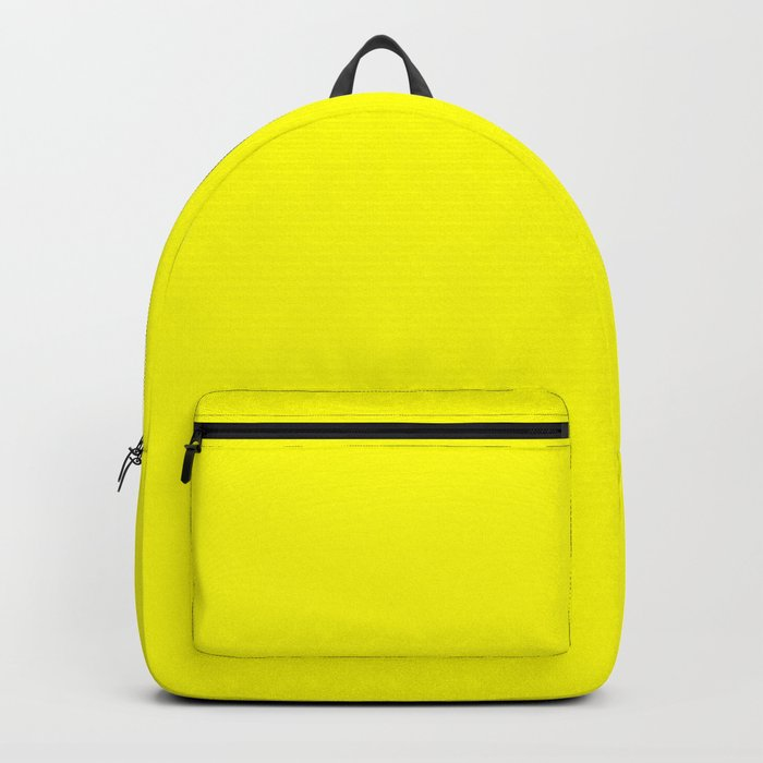 Bright Fluorescent Yellow Neon Backpack by