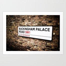 Buckingham Palace Rd Art Print