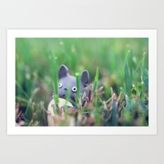 Totoro - Grass Adventures Art Print
