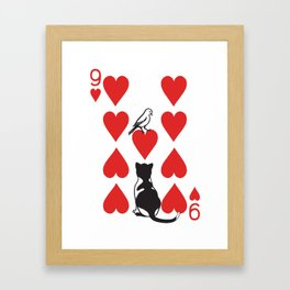 Clipped Wings Deck: The 9 of Hearts Framed Art Print