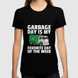 garbage truck garbage collection man T-shirt