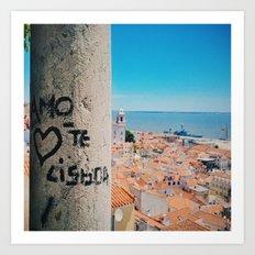 Amo te Lisboa! Art Print
