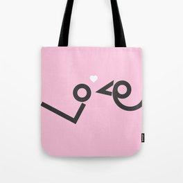 'Love' birds minimal typo #society6 #love #buyart Tote Bag