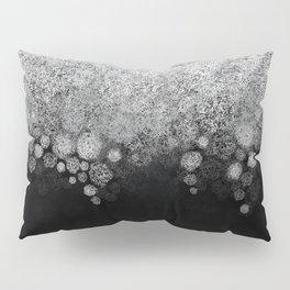 Snowfall on Black Pillow Sham