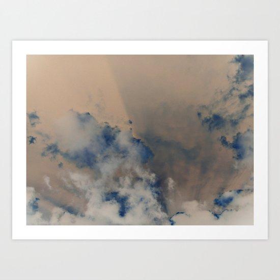 Deep Time Clouds Art Print